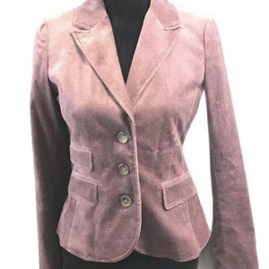 Ann Taylor LOFT Stylish Jacket Size: 2 PURPL